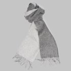 Begg & Co - Langley Lambswool angora scarf flannel/silver