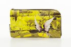 BASIC PURSE WITH ZIP Yellow with bird printed