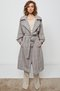 layered sleeve trench coat - madras