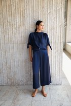 TALA side seamless wrapped culottes navy