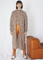CAMILLE long mohair cardigan rust melange