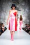 KOKORO - dress - Red w. pink/white striped satin