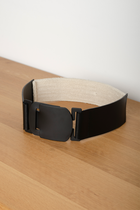 NAZU BELT BLACK/BEIGE