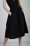 KEOL COTTON SKIRT - BLACK