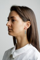 COLLECTION - A / STRUCTURE 1. / matt-gold / earring grey