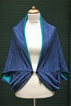 Cardigan SD10035BTK - Blue-Tabby Knitted/turquois