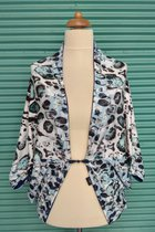 Cardigan SD10016DGD - dark blue and grey dotted/dark blue
