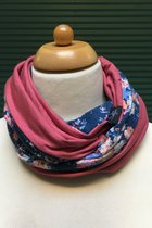Women Loop Scarf SD4155SM - Small flowered/ mauve