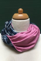 Women Loop Scarf SD42022ECP - English chequered pattern / pink