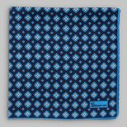 Petronius 1926 - Small flower motif pocket square blue/white