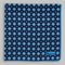 Petronius 1926 - Small flower motif pocket square - blue/white