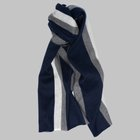 Begg & Co - Jura Stripe lambswool angora scarf grey