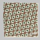 Petronius 1926 - Abstract motif pocket square green