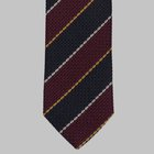 Drake's - Grenadine regimental tie black/red