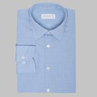Simon Skottowe - Poplin shirt Light blue glenplaid patterned