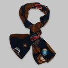 Fumagalli 1891 - Milano wool/silk scarf navy sports equipment