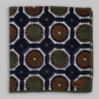 Petronius 1926 - Flower motif pocket square blue/green/brown