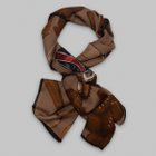 Fumagalli 1891 - Milano sport equipment wool/silk scarf brown