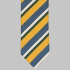 Drake's - Silk Multicolour Repp Tie yellow/blue/green/white