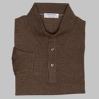 Gran Sasso - Wool/silk tennis sweater brown