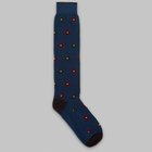 Fumagalli 1891 - Bastia long socks dark blue flower socks