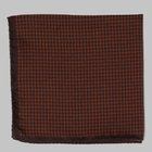 Fiorio - Houndstooth pocket square orange