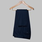 Gabardine cotton trousers navy blue