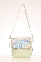 MINI BAG WITH COVER mint green & blue cat cover