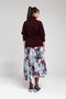 PAPILLON skirt - Printed pleated skirt