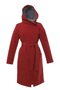GERTRUD winter coat - claret-gray