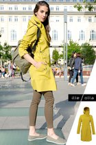 FABIOLA coat mustard yellow