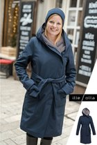GERTRUD winter coat dark blue- gray