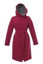GERTRUD winter coat claret-gray