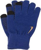 NIKE KNITTED TECH AND GRIP GLOVES DEEP ROYAL B