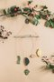 Borarti x de! Ceramics hanging decoration - Sound of forest - green/yellow