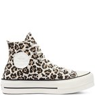 CHUCK TAYLOR ALL STAR ARCHIVE LEOPARD PRINT PLATFORM HIGH TOP TAUPE/CREAM